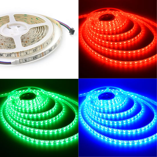 1M - PÁSIK SMD5050 60 LED/M RGB 12V IP20